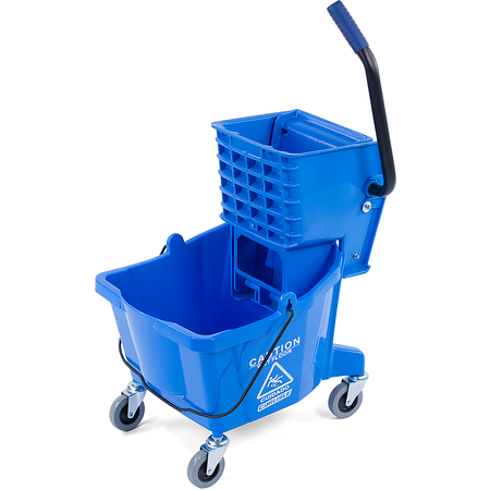 3690814 - Commercial Mop Bucket with Side-Press Wringer 26 Quart - Blue