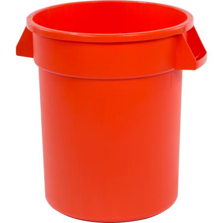 34102024 - Bronco™ Round Waste Bin Trash Container 20 Gallon - Orange
