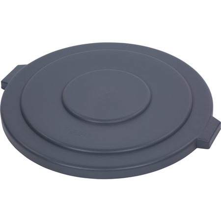 34105623 - Bronco™ Round Waste Bin Trash Container Lid 55 Gallon - Gray