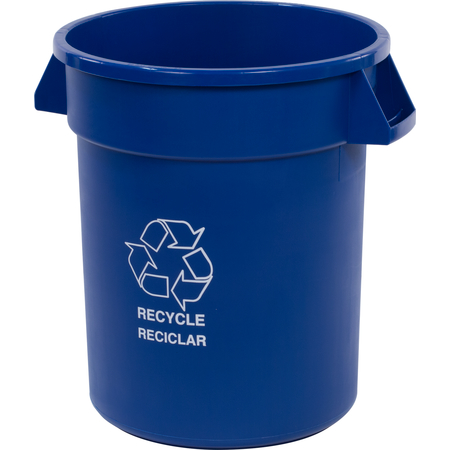 341020REC14 - Bronco™ Round RECYCLE Container 20 Gallon - Blue