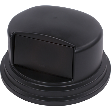 34105703 - Bronco™ Round Waste Bin Trash Container Dome Lid With Hinged Door 44 and 55 Gallon - Black