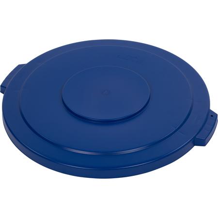 34104514 - Bronco™ Round Waste Bin Trash Container Lid 44 Gallon - Blue