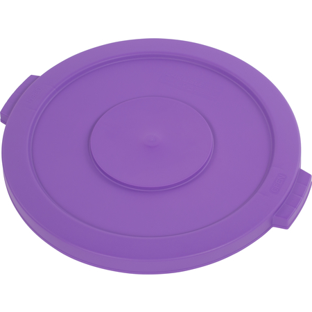 34102189 - Bronco™ Round Waste Bin Trash Container Lid 20 Gallon - Purple
