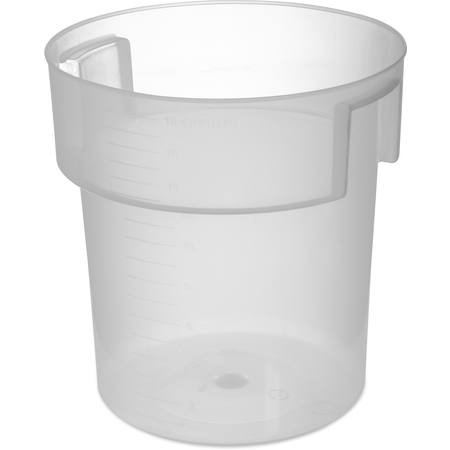 180530 - Polypropylene Bain Marie Food Storage Container 18 qt - Translucent