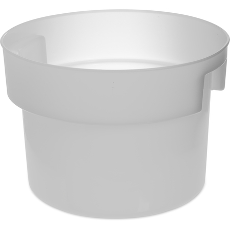 120002 - Polyethylene Bain Marie Food Storage Container 12 qt - White