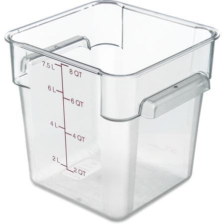 10723AF07 - StorPlus™ Polycarbonate Square Food Storage Container 8 qt - Purple