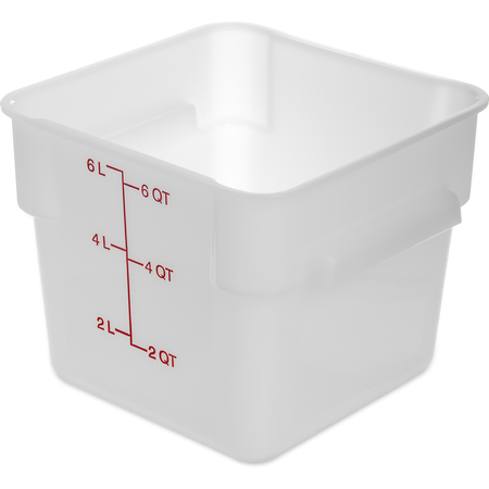 1073202 - StorPlus™ Polyethylene Square Food Storage Container 6 qt - White