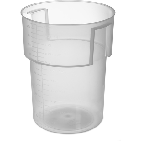 220530 - Polypropylene Bain Marie Food Storage Container 22 qt - Translucent