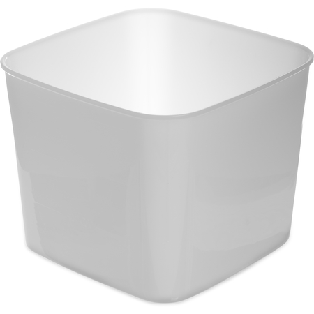 155602 - StorPlus™ Polyethylene Space Saver Food Storage Container 6 qt - White