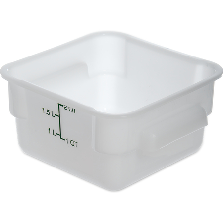 1073002 - StorPlus™ Polyethylene Square Food Storage Container 2 qt - White