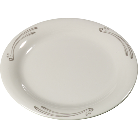 "43005909 - Durus® Melamine Dinner Plate Narrow Rim 9"" - Versailles on Bone"
