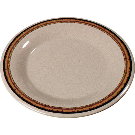 "43013908 - Durus® Melamine Wide Rim Dinner Plate 9"" - Sierra Sand on Sand"