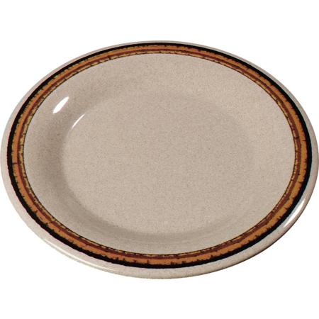 """43019908 - Durus® Melamine Wide Rim Pie Plate 6.5"""" - Sierra Sand on Sand"""
