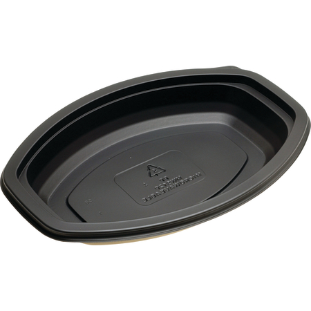 DXMW912PBLK - Microwaveable Oval Casserole Container 12oz. (250/cs) - Black