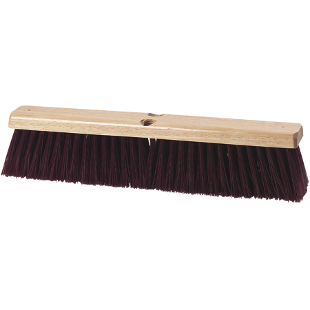 "3621931800 - Flo-Pac® Crimped Polypropylene Sweep 18"" - Maroon"
