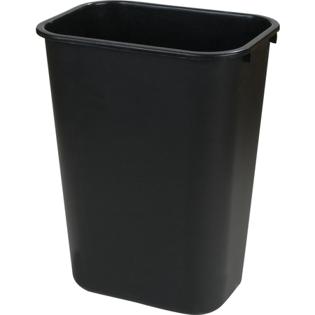 34292803 - Rectangle Office Wastebasket Trash Can 28 Quart - Black