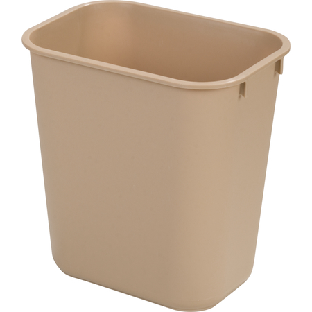 34292806 - Rectangle Office Wastebasket Trash Can 28 Quart - Beige