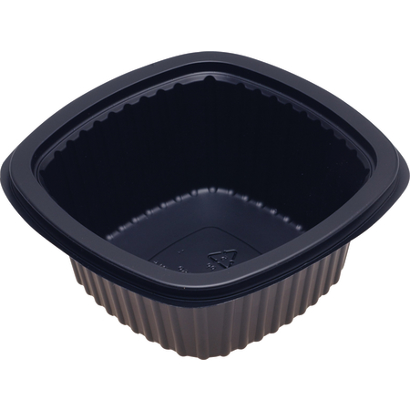 DXMW516PBLK - Microwaveable Square Side Dish 16oz. (500/cs) - Black