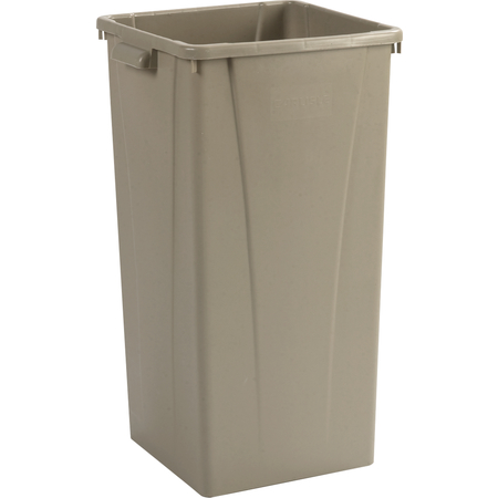 34352306 - Centurian™ Square Tall Waste Container Trash Can 23 Gallon - Beige