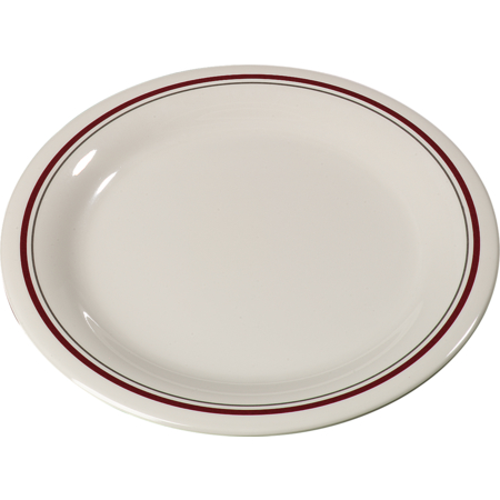 "43009903 - Durus® Melamine Pie Plate Narrow Rim 6.5"" - Morocco on Bone"