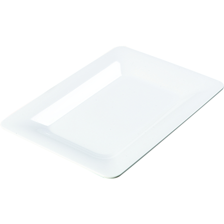"4441402 - Designer Displayware™ Wide Rim Rectangle Platter 14"" x 10"" - White"