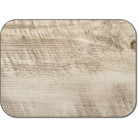 "DX5365M - Tray Cover Size: M w/ Straight Edge/Round Corner 13-5/8"" x 18-3/4"" (1000/cs) - Woodgrain - Brown"