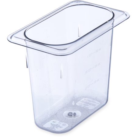 "3068807 - StorPlus™ Polycarbonate Food Pan 1/9 Size, 6"" Deep - Clear"