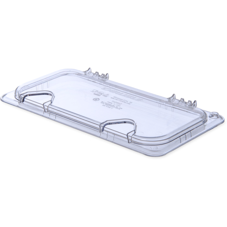 10280Z07 - StorPlus™ EZ Access Hinged Notched Universal Food Pan Lid 1/3 Size - Clear