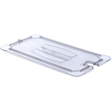 10271U07 - StorPlus™ Polycarbonate Notched Handled Universal Lid 1/3 Size - Clear
