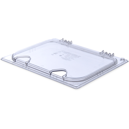 10239Z07 - StorPlus™ EZ Access Hinged Notched Universal Food Pan Lid 1/2 Size - Clear