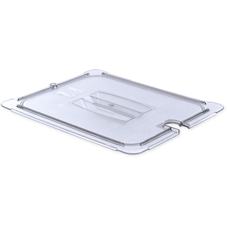10231U07 - StorPlus™ Polycarbonate Notched Handled Universal Lid 1/2 Size - Clear
