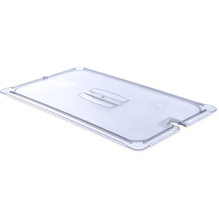 10211U07 - StorPlus™ Polycarbonate Notched Handled Universal Lid Full-Size - Clear