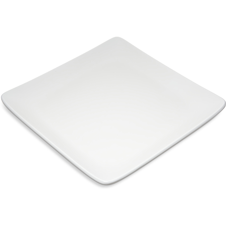 "6400902 - Melamine Square Plate 9"" - White"