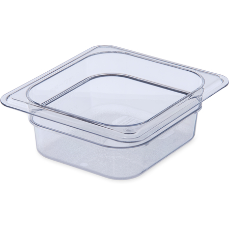 "3068307 - StorPlus™ Polycarbonate Food Pan 1/6 Size, 2.5"" Deep - Clear"