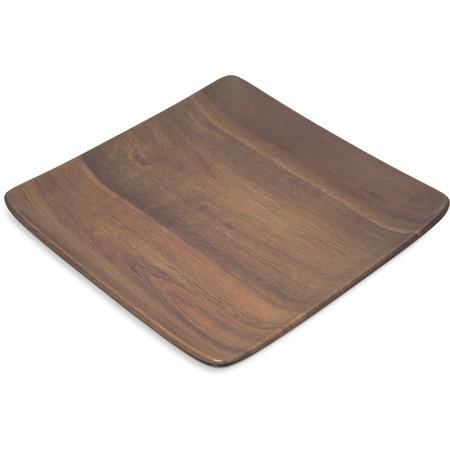 """EAG1169 - Epicure® Acacia Grain Square Tray 9"""" x 9"""" - Dark Woodgrain"""