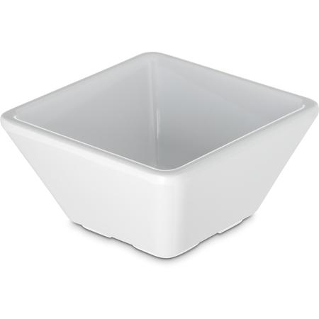 6402402 - Melamine Square Bowl 3 oz - White