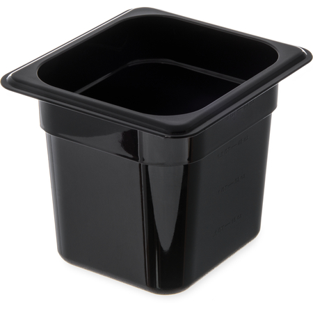 "3068503 - StorPlus™ Polycarbonate Food Pan 1/6 Size, 6"" Deep - Black"