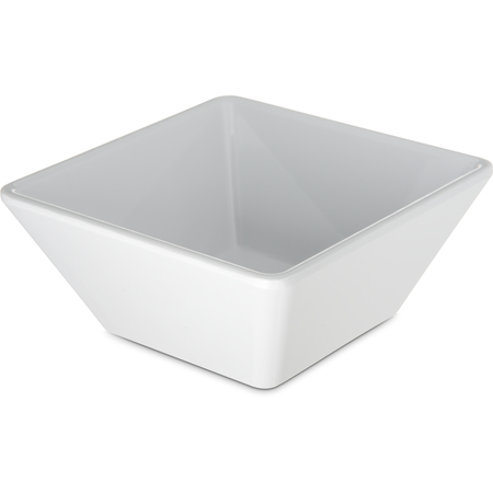 6402602 - Melamine Square Bowl 14 oz - White