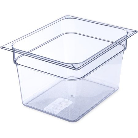 "10223B07 - StorPlus™ Polycarbonate Food Pan 1/2 Size, 8"" Deep - Clear"