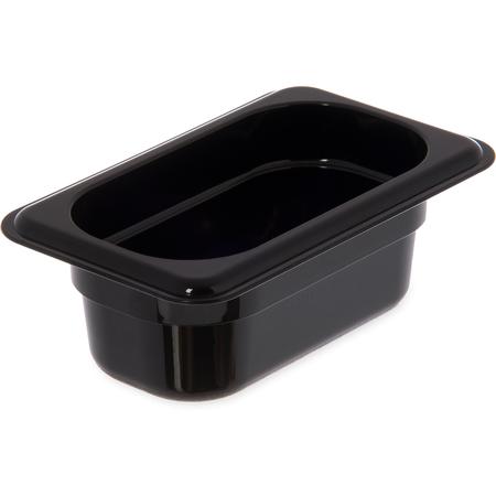"3088603 - StorPlus™ High Heat Food Pan 1/9 Size, 2.5"" Deep - Black"