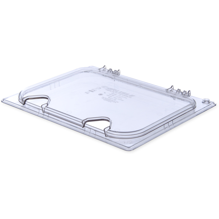 10240Z07 - StorPlus™ EZ Access Hinged Notched Universal Food Pan Lid 1/2 Size - Clear
