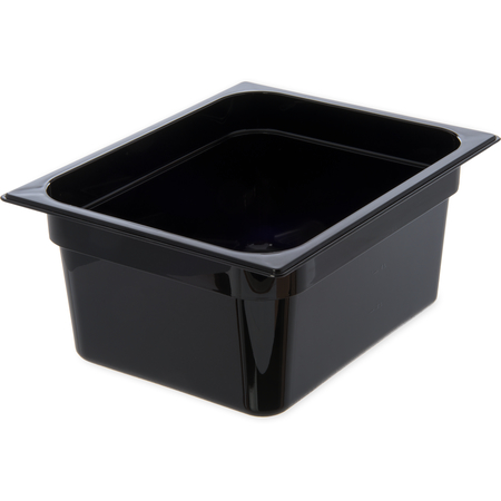 "10222B03 - StorPlus™ Food Pan PC 6"" DP 1/2 Size - Black"