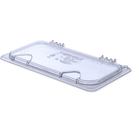 10279Z07 - StorPlus™ EZ Access Hinged Notched Universal Food Pan Lid 1/3 Size - Clear