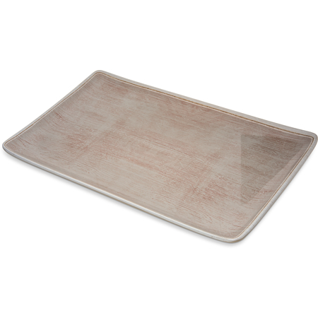 "6401570 - Grove Melamine Rectangle Platter Tray 15"" x 9"" - Adobe"