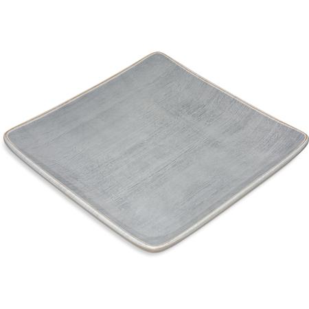 """6400918 - Grove Melamine Square Plate 9"""" - Smoke"""