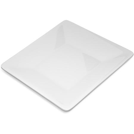 "6402802 - Melamine Square Plate 8"" - White"