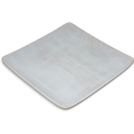"6400906 - Melamine Square Plate 9"" - Buff"