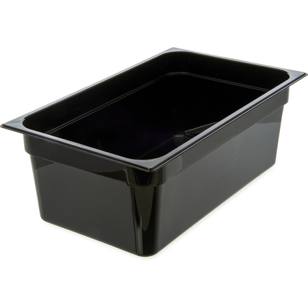 "10203B03 - StorPlus™ Polycarbonate Food Pan Full-Size, 8"" Deep - Black"