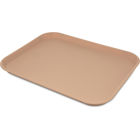 "1418PC25 - Polycarbonate Fast Food Cafeteria Tray 18"", 14"" - Tan"