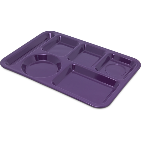 4398087 - Left-Hand Heavy Weight 6-Compartment Tray - Purple
